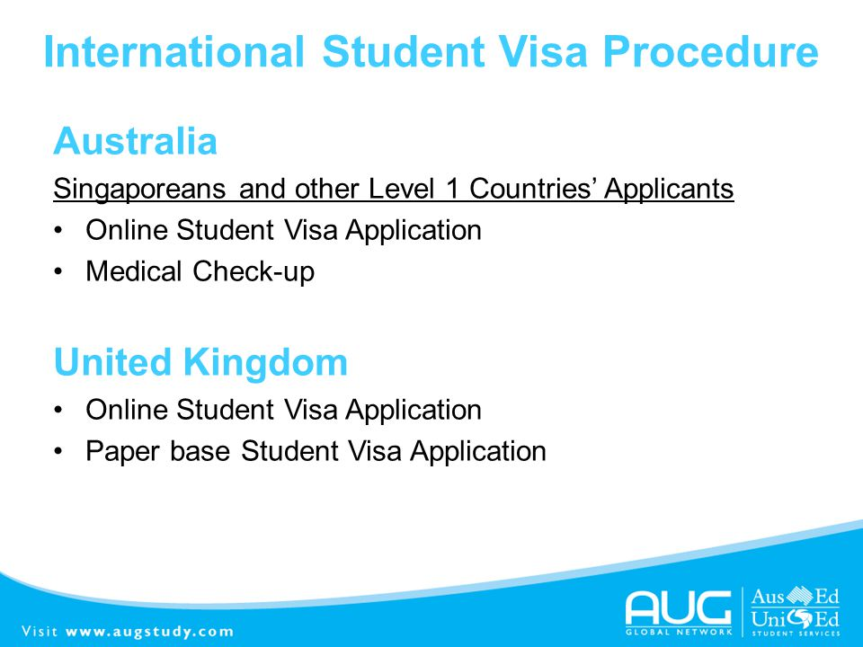 International Student Visa Procedure