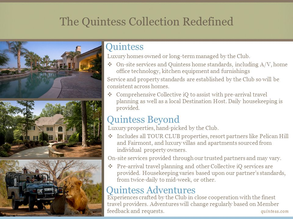 The Quintess Collection Redefined