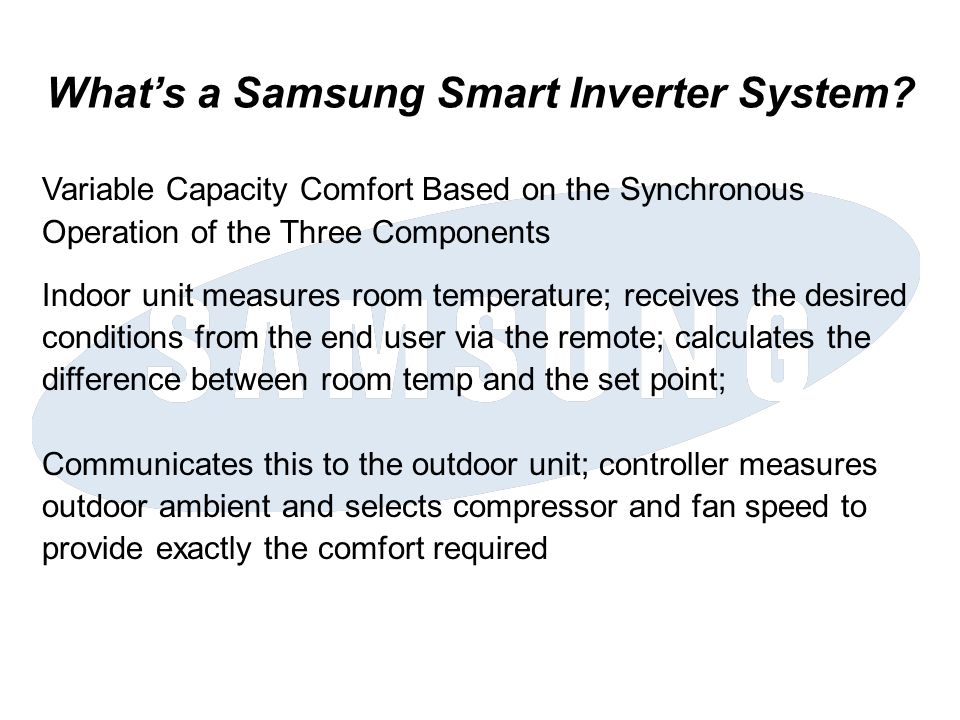 What's a Samsung Smart Inverter System
