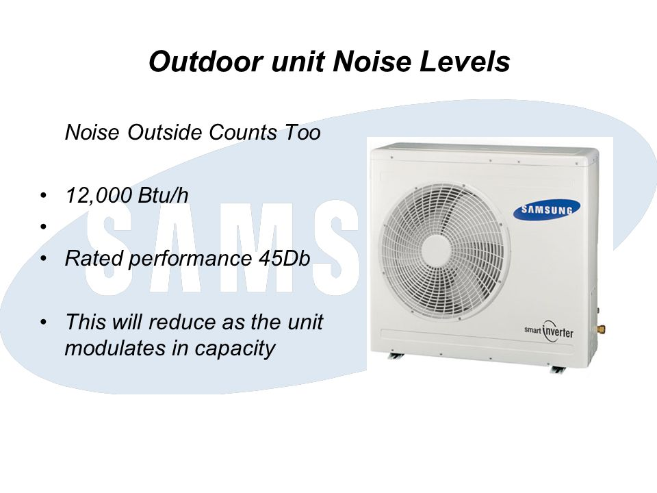 Outdoor unit Noise Levels