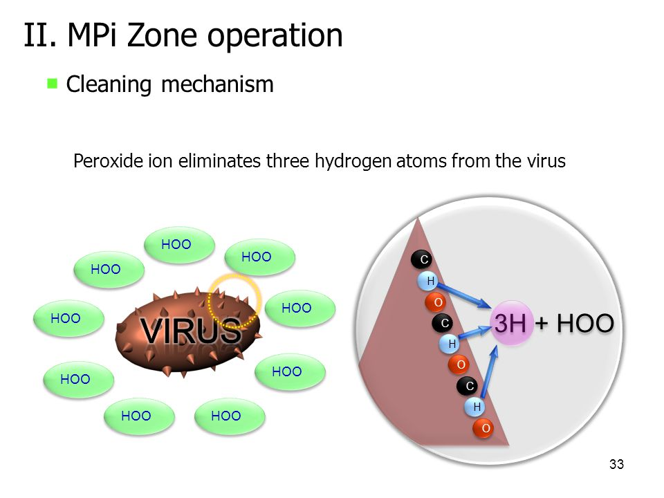 Virus II. MPi Zone operation 3H + HOO ■ Cleaning mechanism