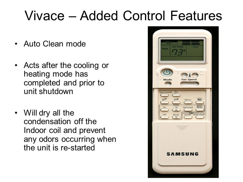 Vivace – Added Control Features