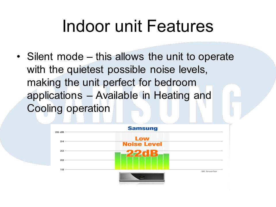 Indoor unit Features