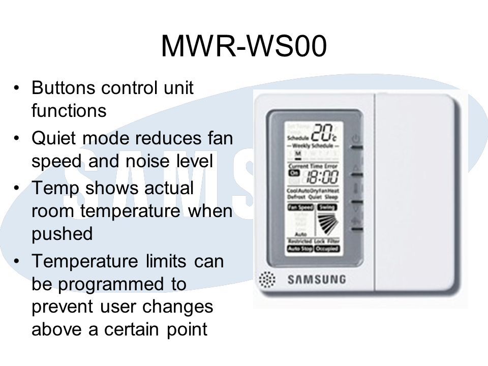 MWR-WS00 Buttons control unit functions