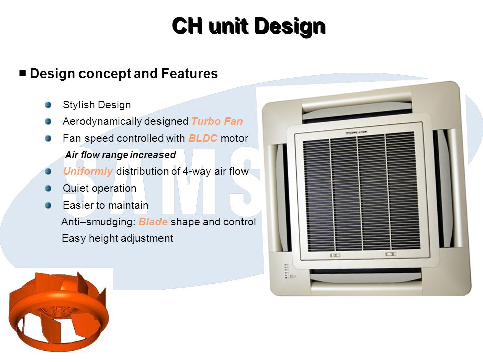 CH unit Design ■ Design concept and Features Stylish Design