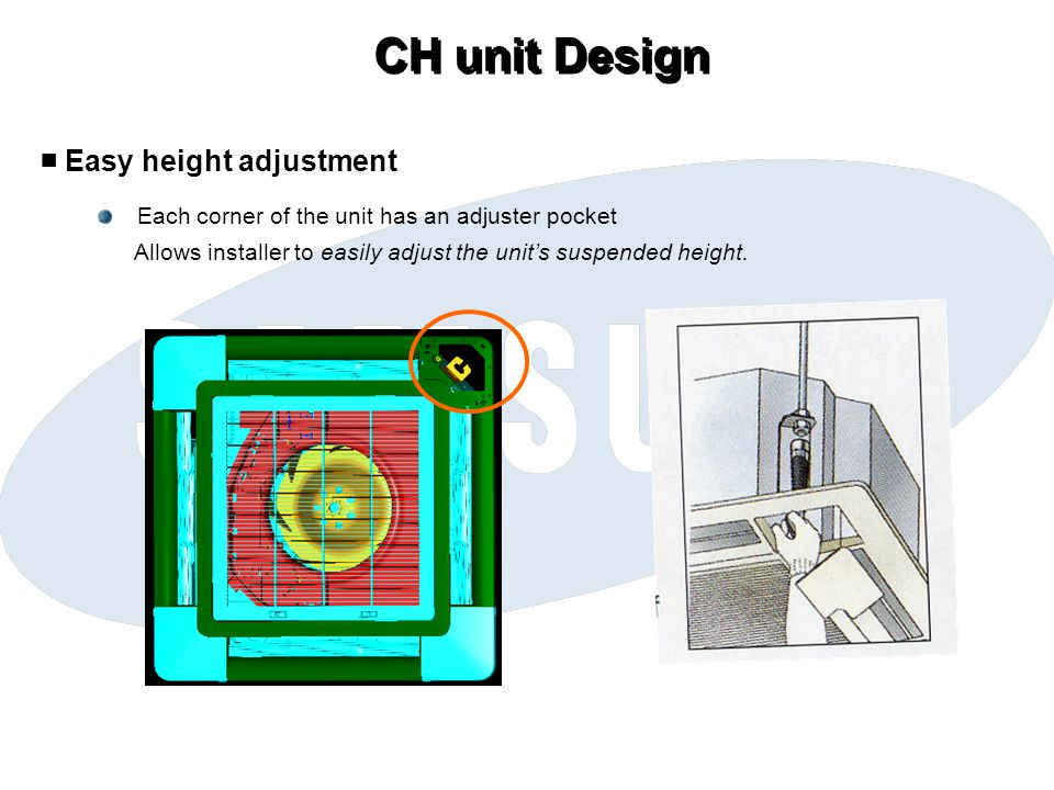 CH unit Design ■ Easy height adjustment
