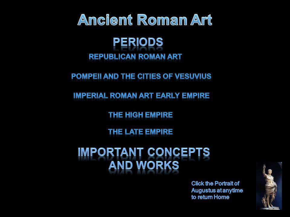 Ancient Roman Art Periods Important Concepts and Works