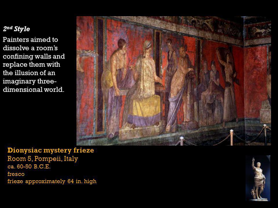 Dionysiac mystery frieze Room 5, Pompeii, Italy