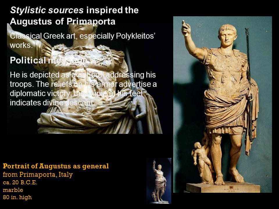 Stylistic sources inspired the Augustus of Primaporta