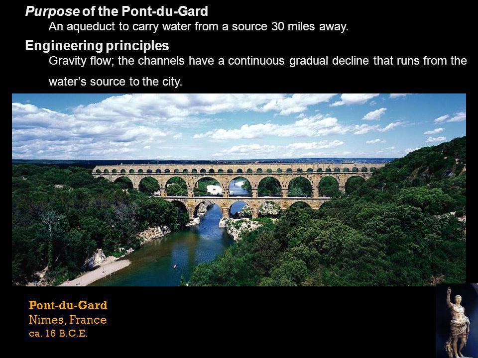 Purpose of the Pont-du-Gard Engineering principles