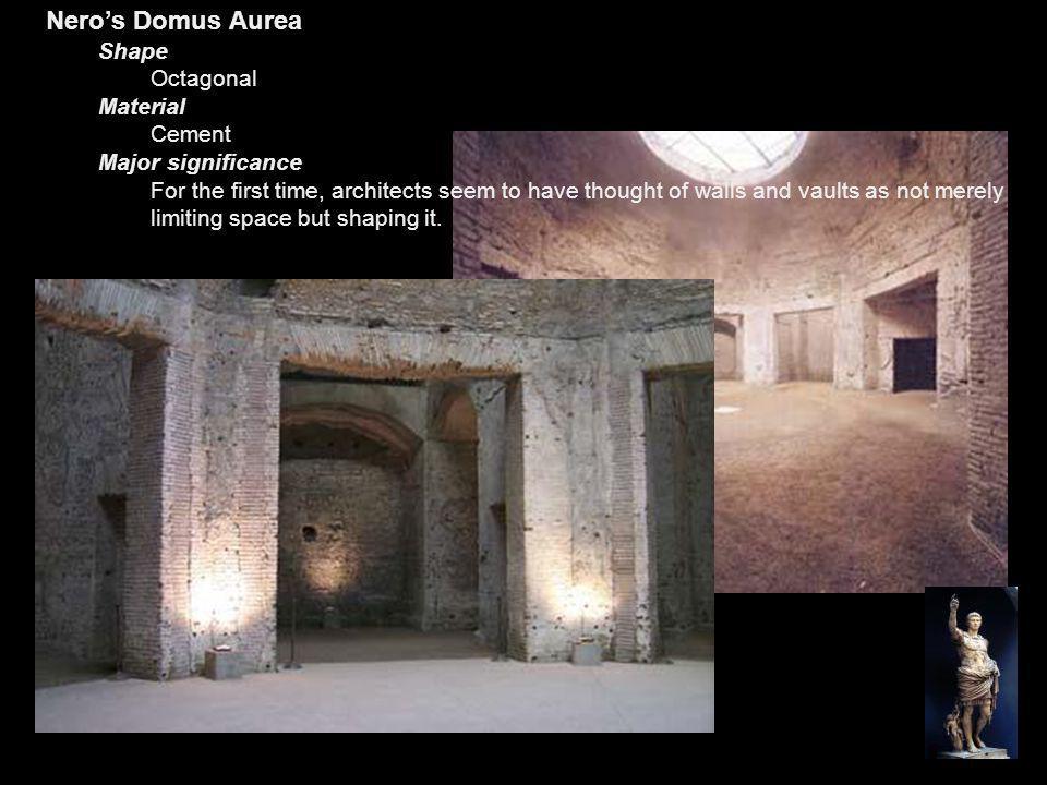 Nero's Domus Aurea Shape Octagonal Material Cement Major significance