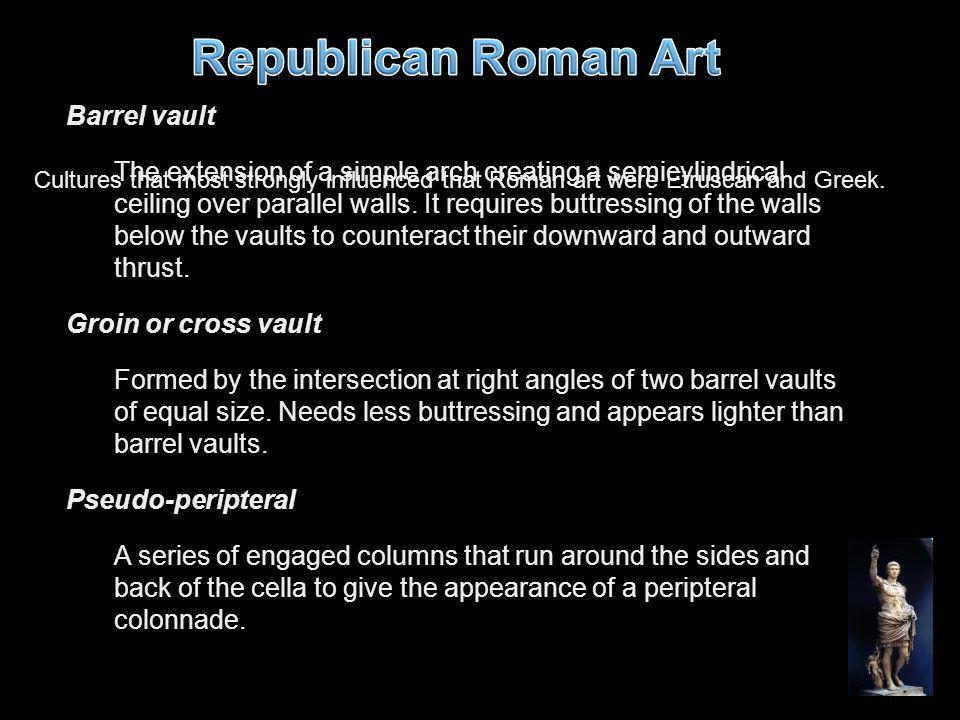Republican Roman Art Barrel vault