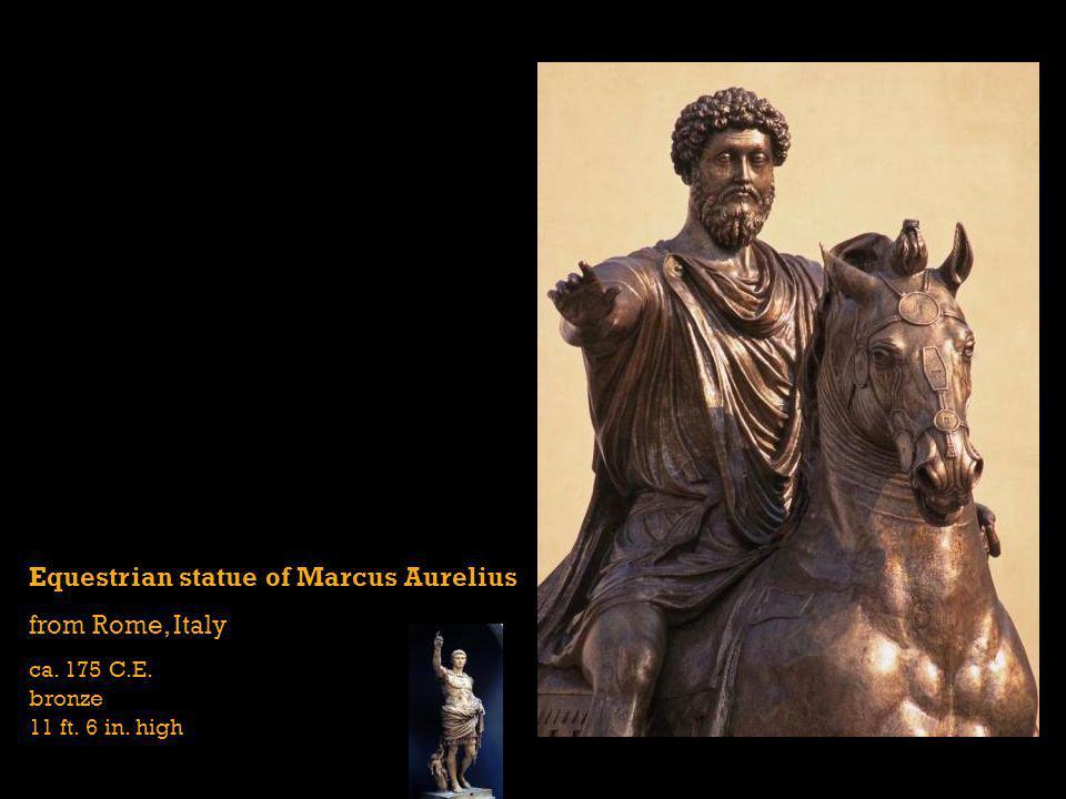 Equestrian statue of Marcus Aurelius from Rome, Italy