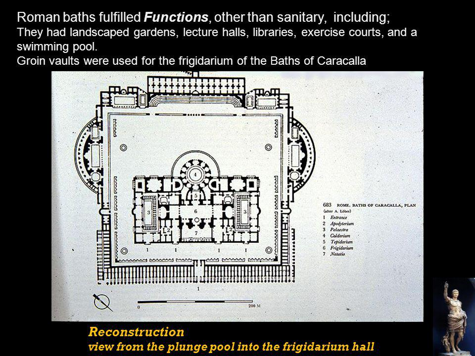 Roman baths fulfilled Functions, other than sanitary, including;