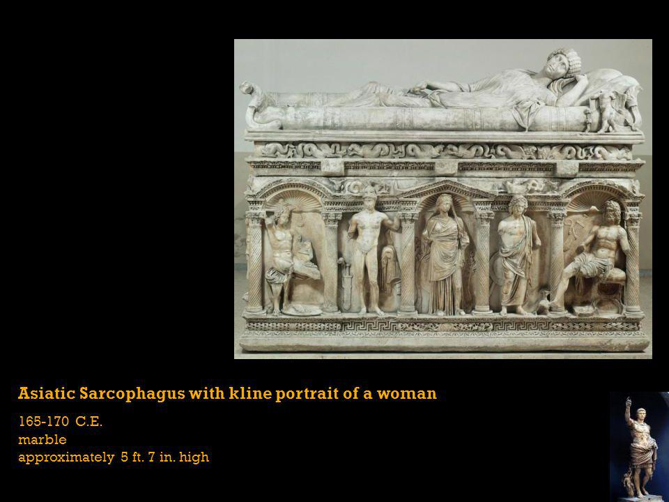 Asiatic Sarcophagus with kline portrait of a woman