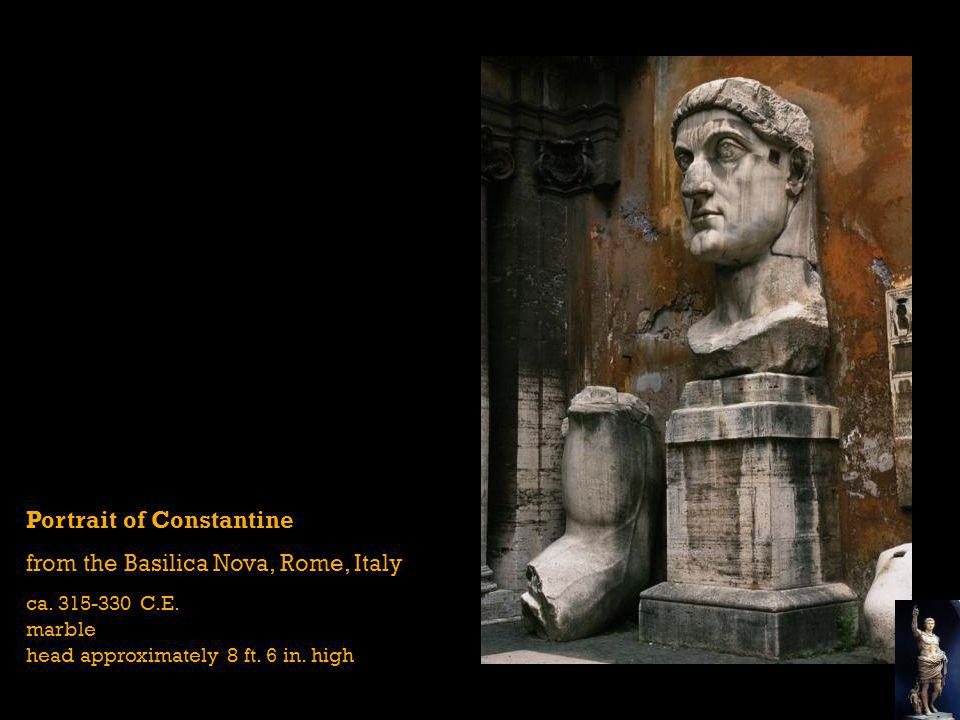 Portrait of Constantine from the Basilica Nova, Rome, Italy