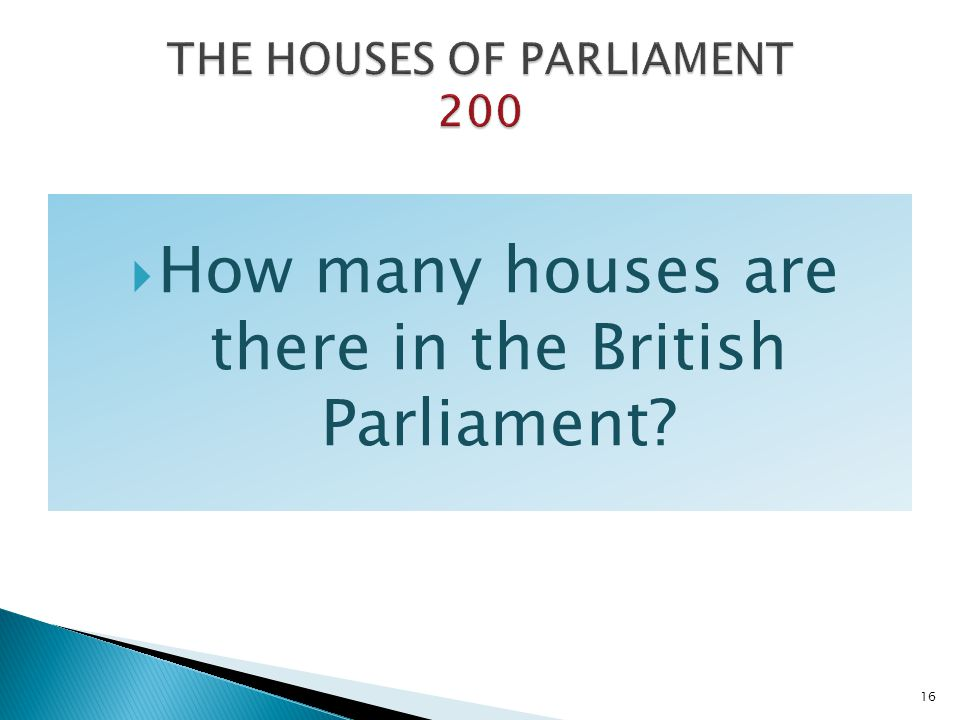 THE HOUSES OF PARLIAMENT 200