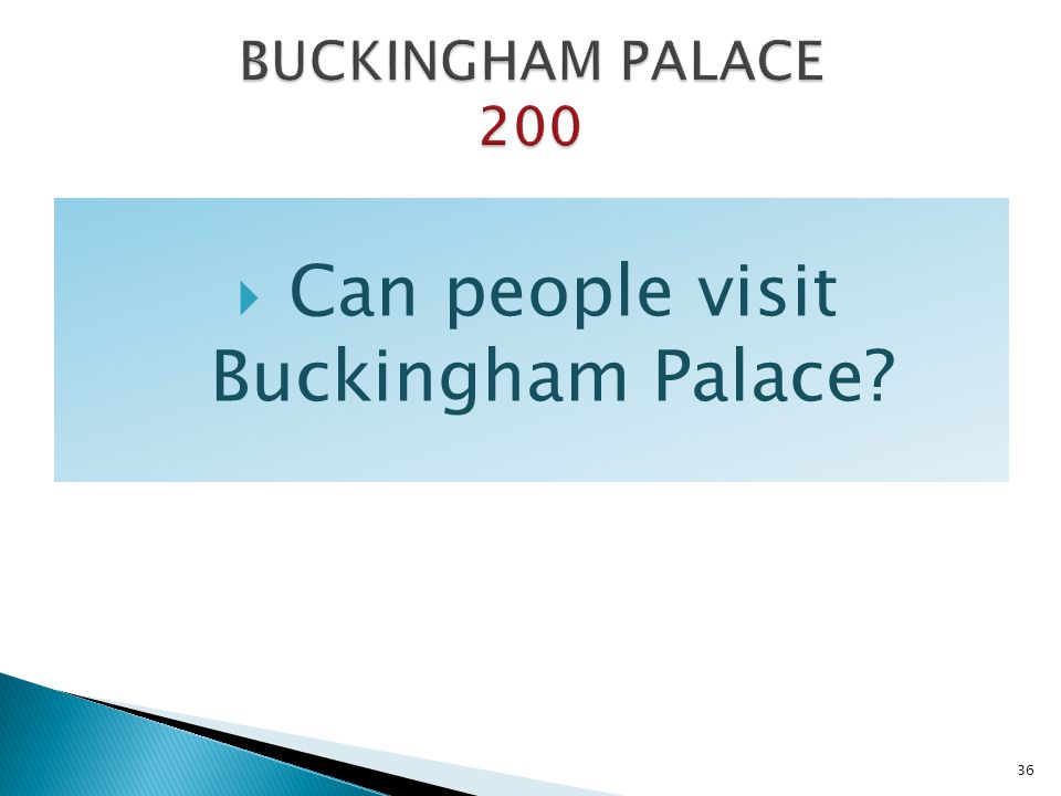 Can people visit Buckingham Palace