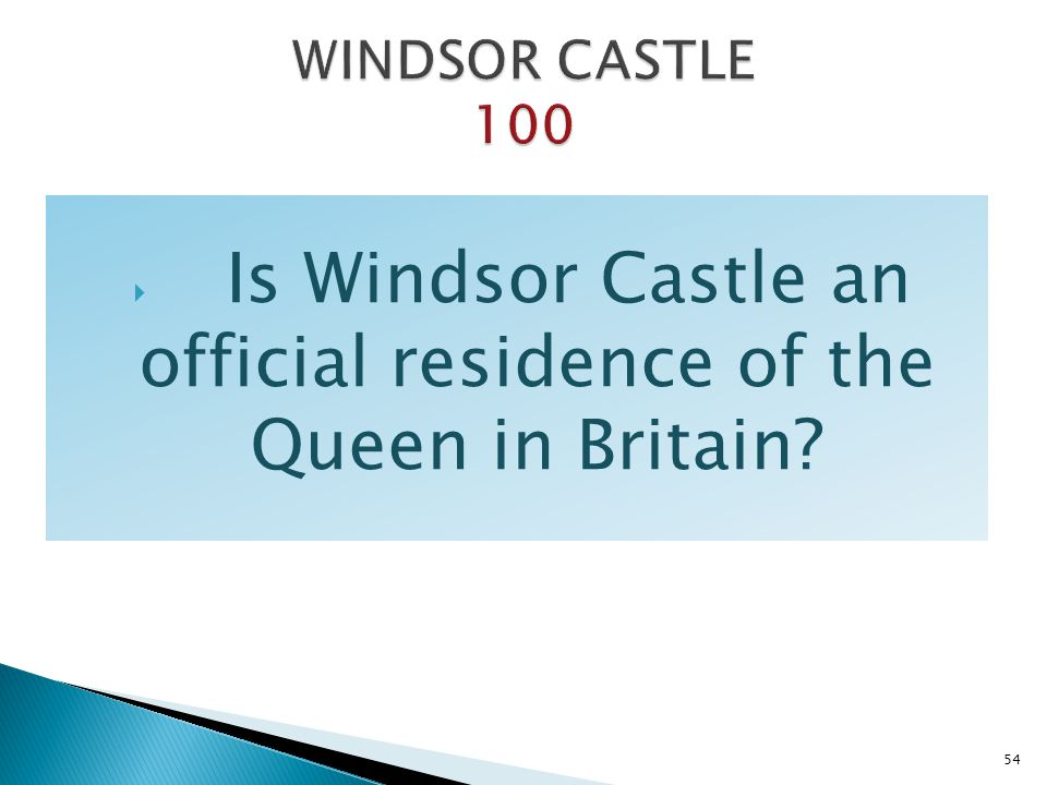 Is Windsor Castle an official residence of the Queen in Britain