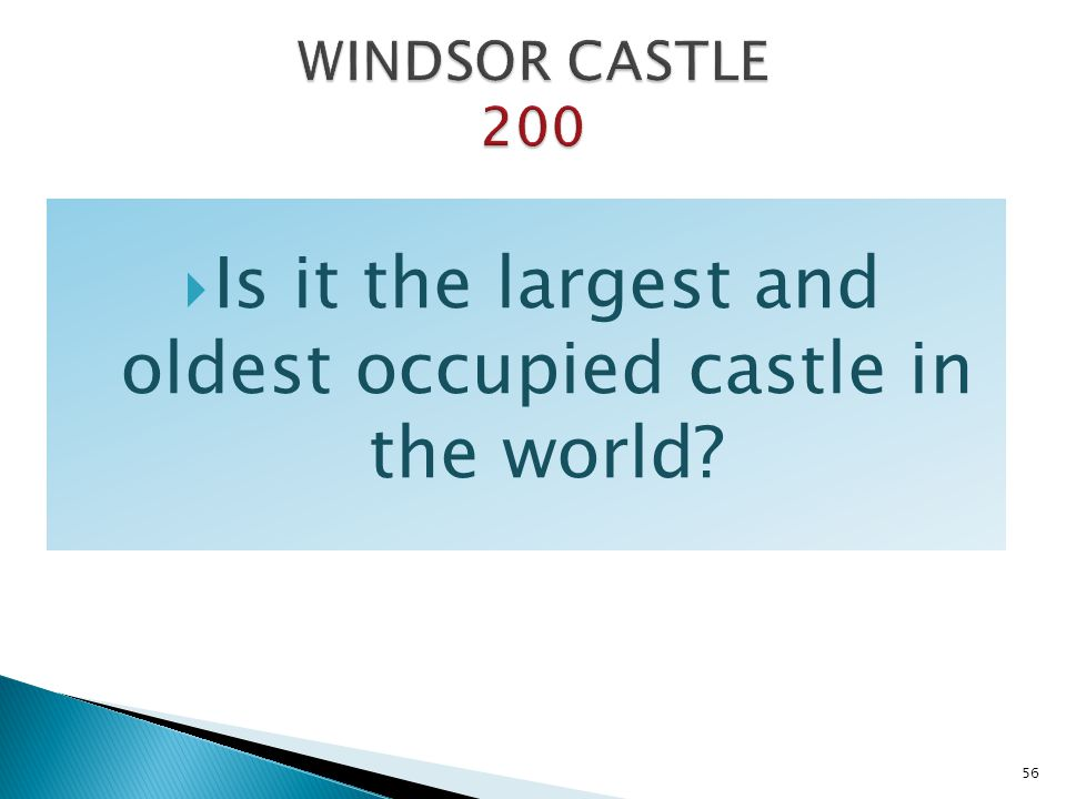 Is it the largest and oldest occupied castle in the world