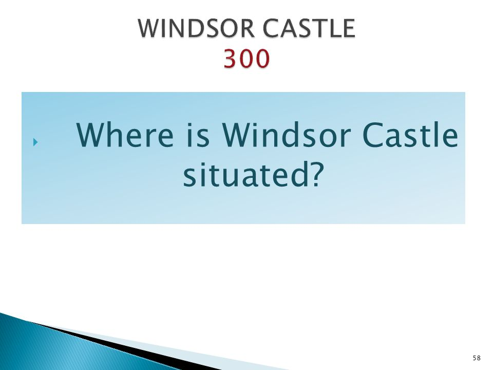Where is Windsor Castle situated
