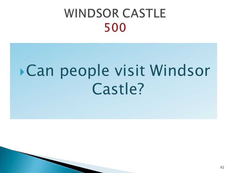 Can people visit Windsor Castle