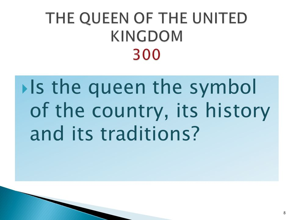 THE QUEEN OF THE UNITED KINGDOM 300