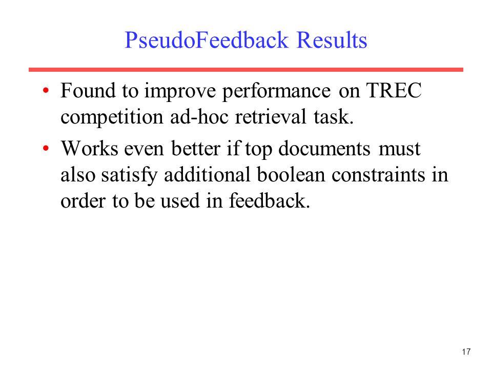 PseudoFeedback Results