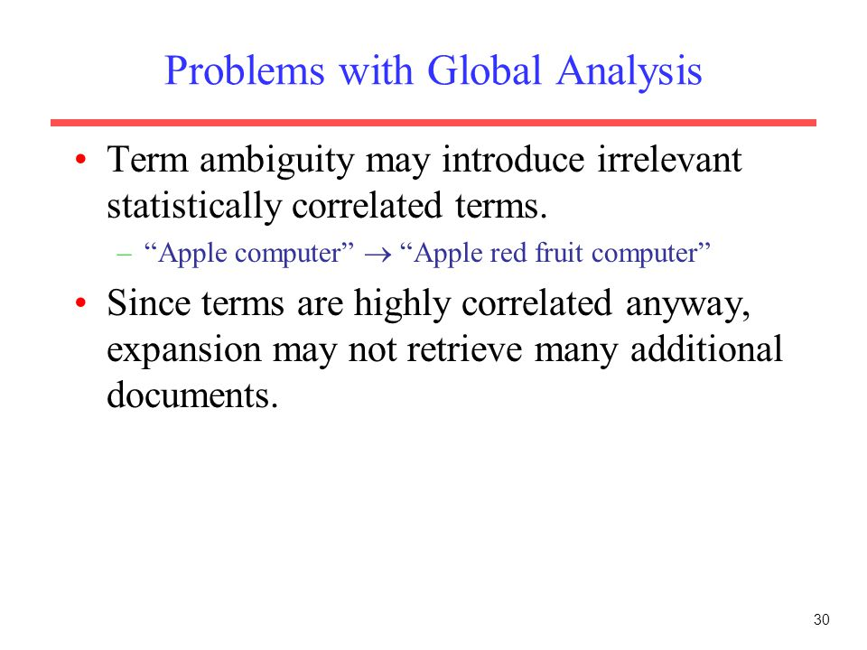 Problems with Global Analysis