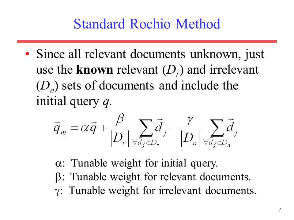 Standard Rochio Method
