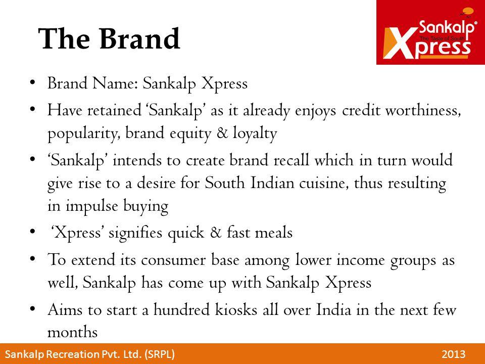 The Brand Brand Name: Sankalp Xpress