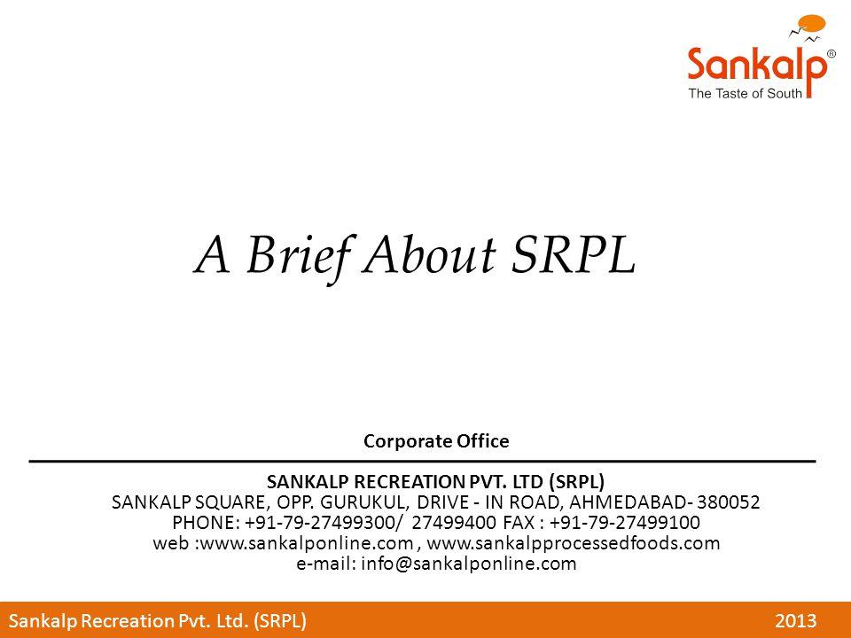 SANKALP RECREATION PVT. LTD (SRPL)