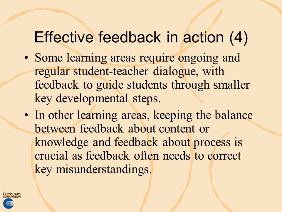 Effective feedback in action (4)