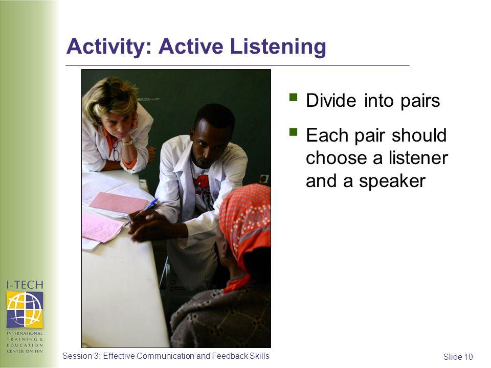 Activity: Active Listening