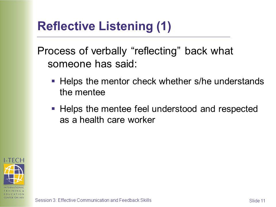 Reflective Listening (1)