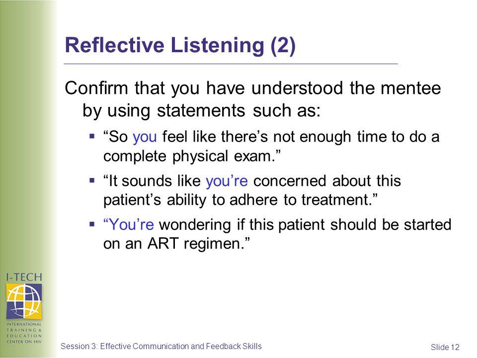 Reflective Listening (2)