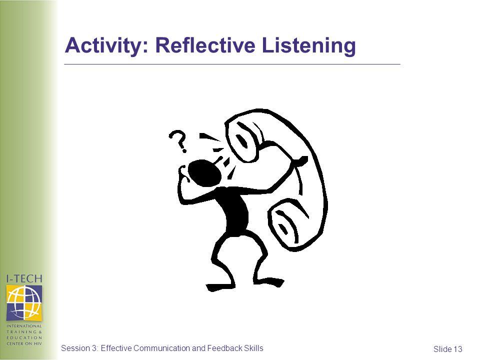 Activity: Reflective Listening