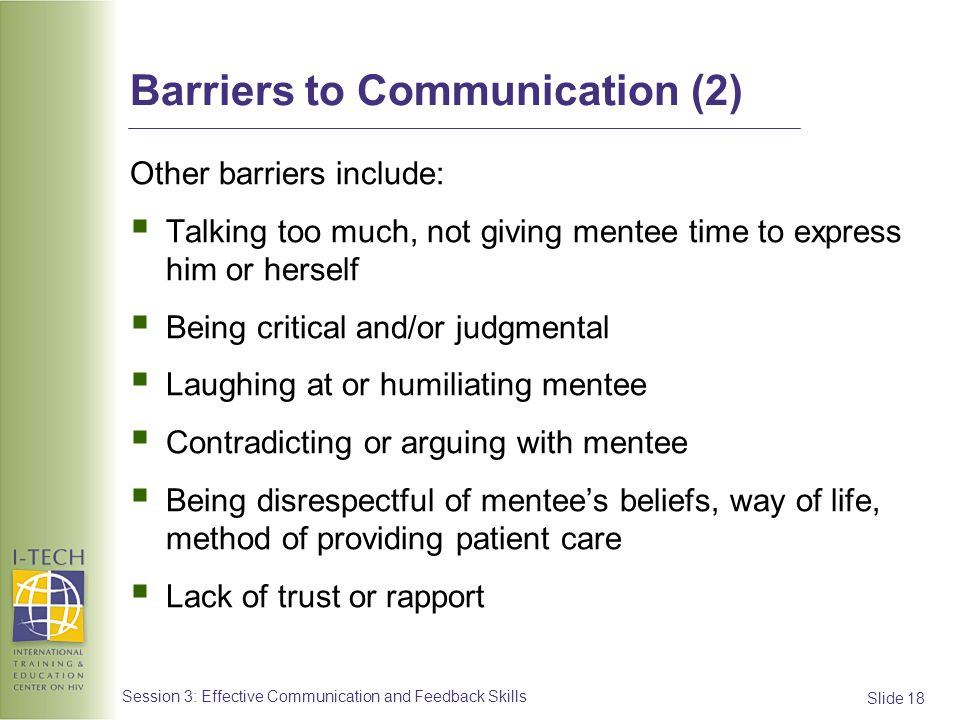 Barriers to Communication (2)