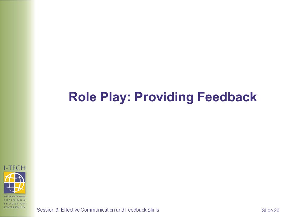 Role Play: Providing Feedback