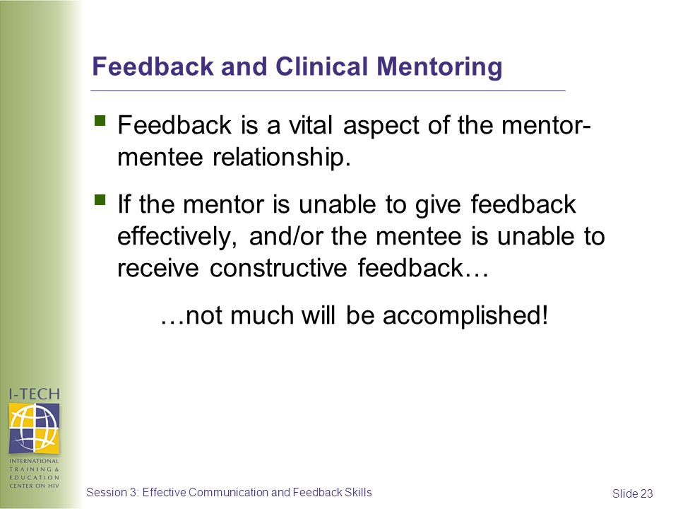 Feedback and Clinical Mentoring