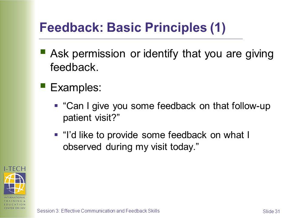 Feedback: Basic Principles (1)