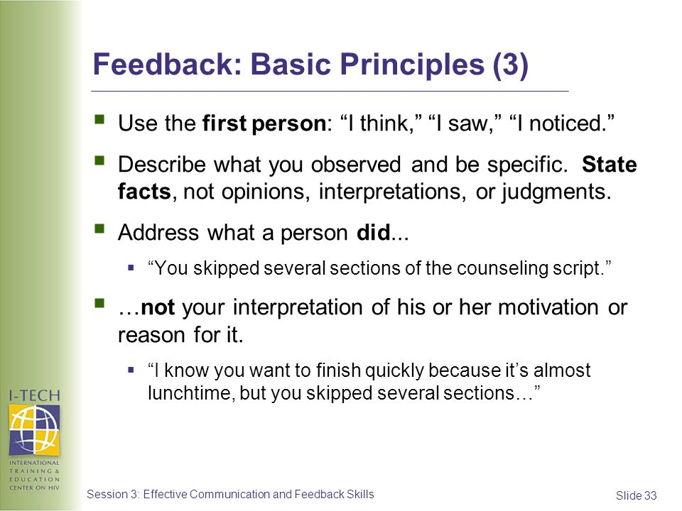 Feedback: Basic Principles (3)