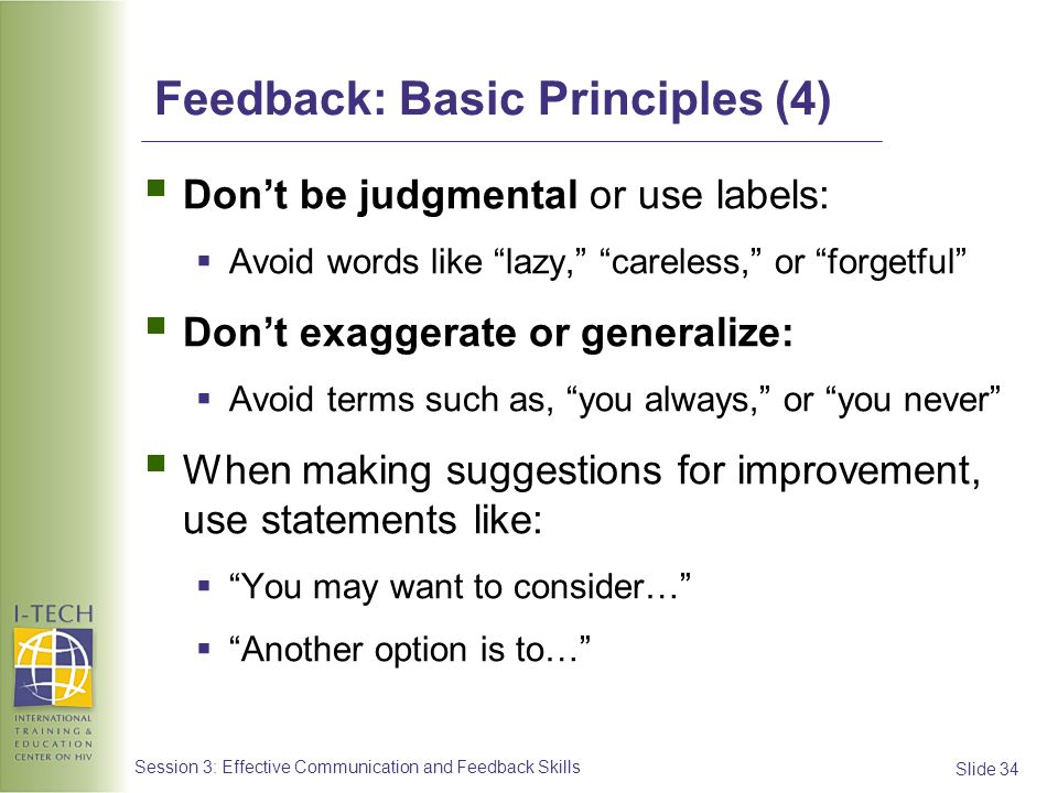 Feedback: Basic Principles (4)