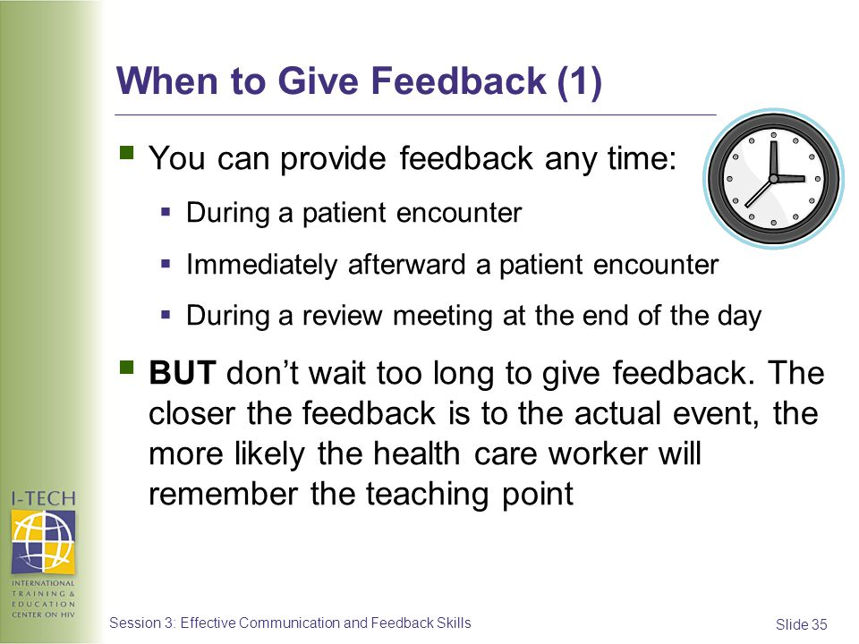 When to Give Feedback (1)