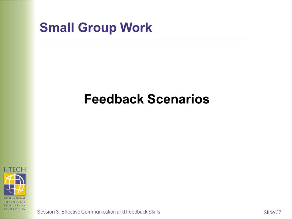 Small Group Work Feedback Scenarios