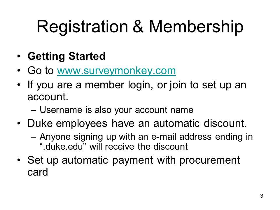 Registration & Membership