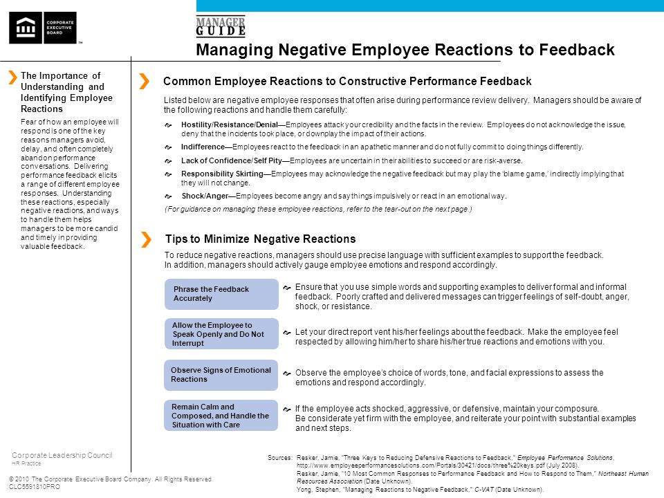 Managing Negative Employee Reactions to Feedback - ppt video