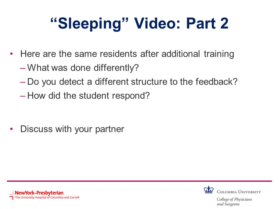 Sleeping Video: Part 2