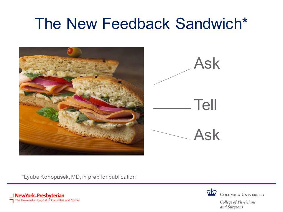 The New Feedback Sandwich*