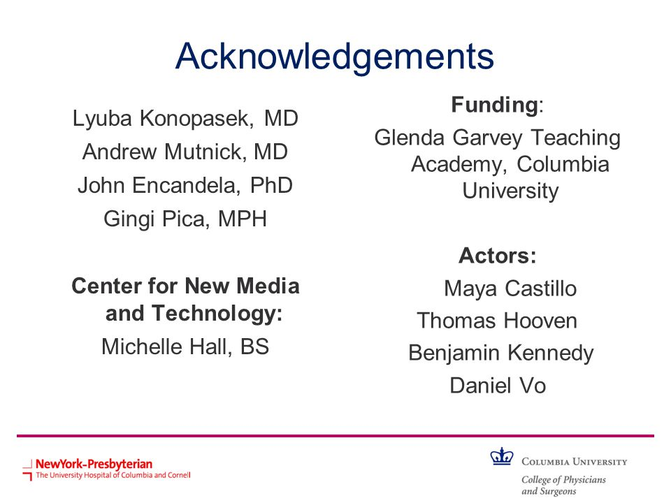 Acknowledgements Funding: